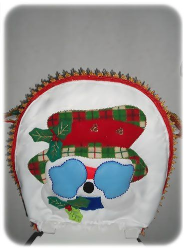 Snowman Toilet Seat Cover