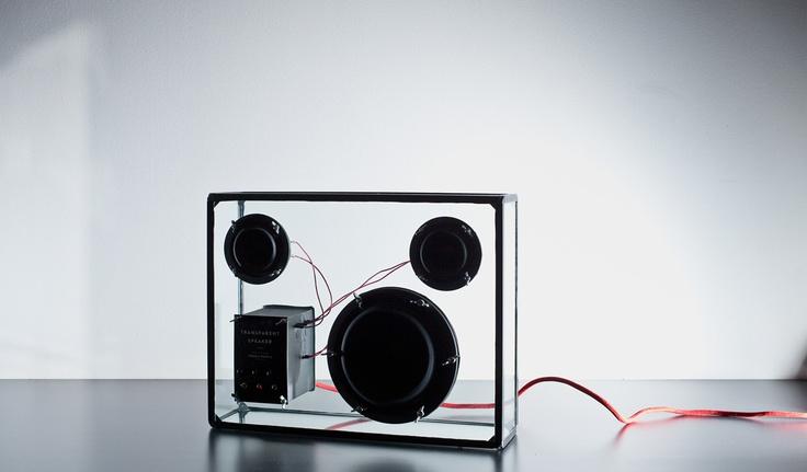 Transparent Speaker! Looks so...futuristic!