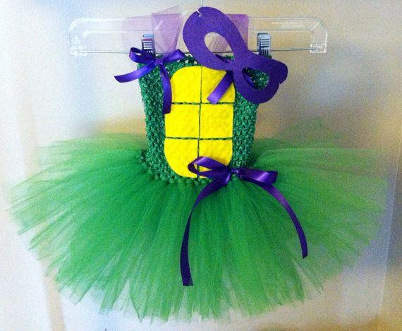 TMNT teenage mutant ninja turtle tutu dress, newborn-3, message for size 4 or 5 on Etsy, $40.00