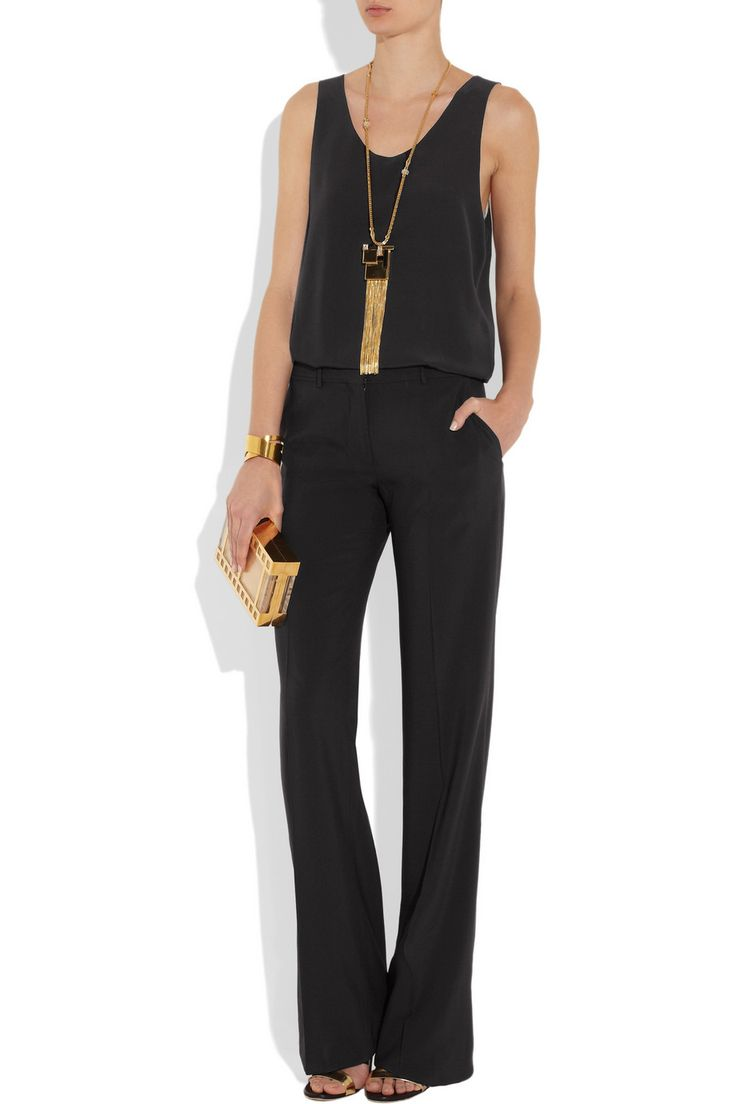 Chloé silk tank, Pucci necklace & Charlotte Olympia clutch