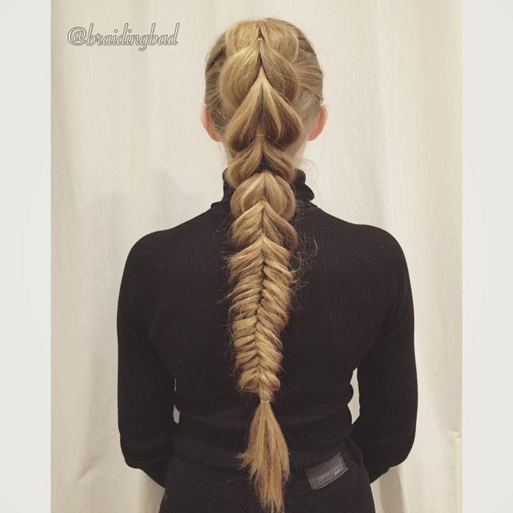 "Heli sanoo Instagramissa: ""I'm in love with this @ennikitty 's #pullthroughbraid into a messy #fishtailbraid combo 😍😍😍 . . #braidinghair #braidideas #läpivetoletti #instabraids #letti #lettikampaus #letitys #hairdo #hairstyles #peinados #plaitedhair #suomiletit #braidsforgirls #featuremeisijatytot #hotbraidsmara #braidsforlittlegirls #braidsforever #beyondtheponytail #featureaccount_ #braidinginspiration #inspirationalbraids #see_your_braids"""
