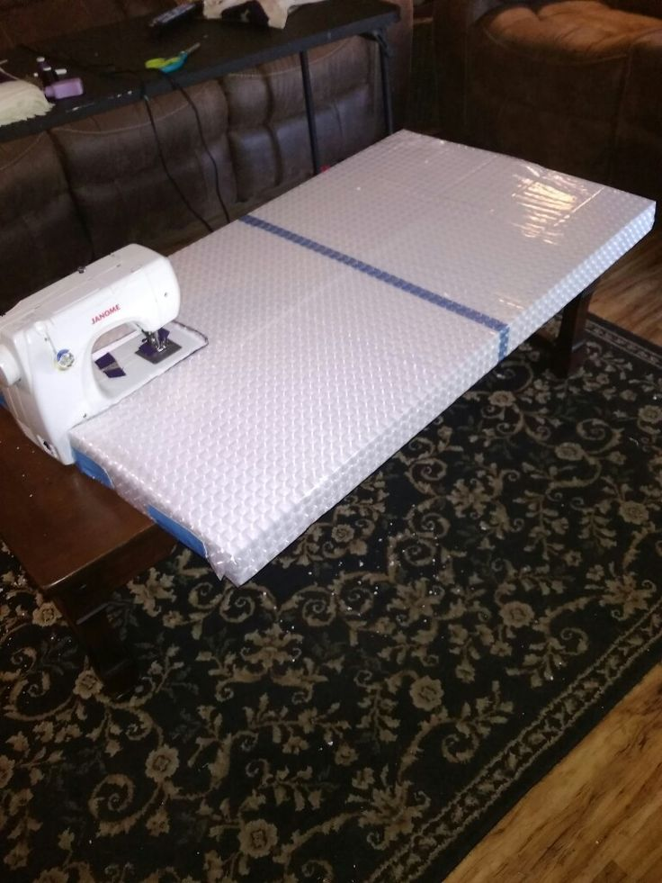 DIY sewing machine extension table for quilting. Made with ...