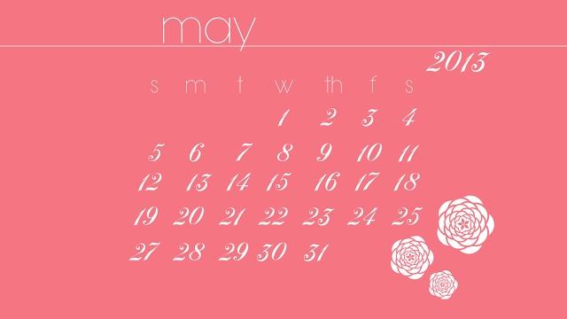 May 2013 calendar FREEBIE - Northern Belle Diaries