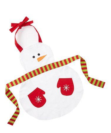Snowman Apron - Kids by Design Imports #zulily #zulilyfinds