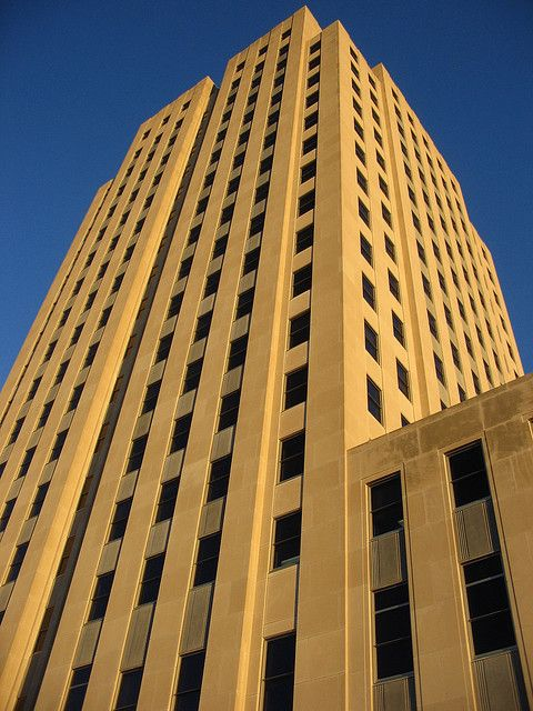 North Dakota State Capitol Building, Bismarck. The tower is 19-stories high.