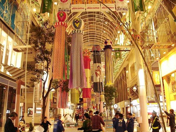 Getting Ready for theTanabata Festival in Sendai, Miyagi Prefecture秋の仙台七夕物語開会式・其の07