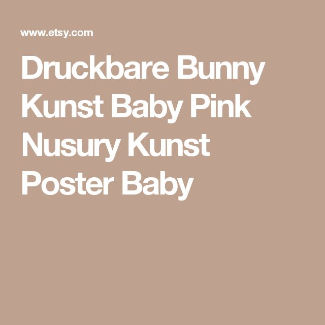 Druckbare Bunny Kunst Baby Pink Nusury Kunst Poster Baby