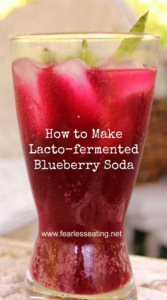 How to Make Lacto-fermented Blueberry Soda | www.fearlesseating.net