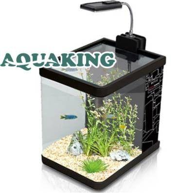 Mini Aquario Curvo BOYU ME-175 Iluminacao LED 9L Preto - 170x230x230 - 110v