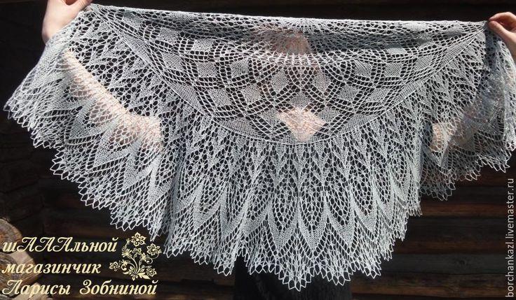 Купить Льняная шаль Утренняя дымка платок для храма - однотонный, лен, лен 100%