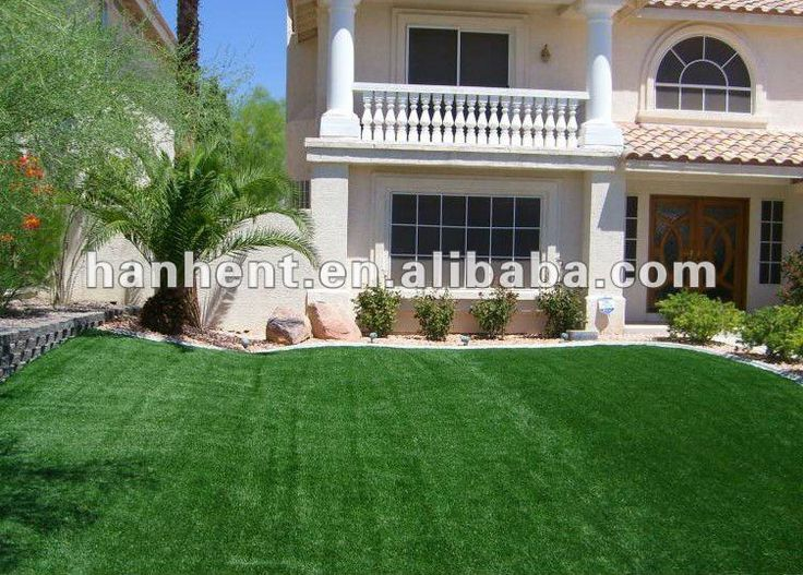 Synthetic grass around the house #Landscapes, #Around_House
