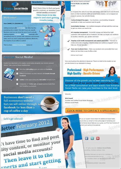elegant html email newsletter template on behance newsletter
