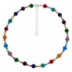 Valentina Murano Matt Glass Ball #Necklace Multi Coloured #jewellery #murano