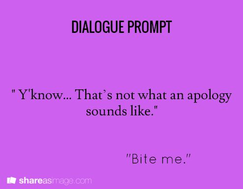 Apology | dialogue prompt