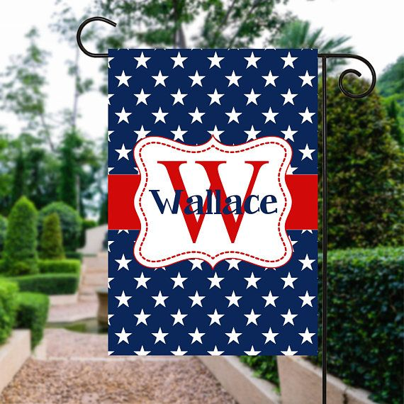 Red White and Blue Flag | 4th of July Flag | Patriotic Flag | Personalized Flag | Garden Flags | Patriotic Decor  #4thOfJulyFlag #GardenSign #PatrioticFlag #PersonalizedFlag #GardenGift #FourthOfJuly #GardenFlags #YardSign #RedWhiteAndBlue #GardenFlag
