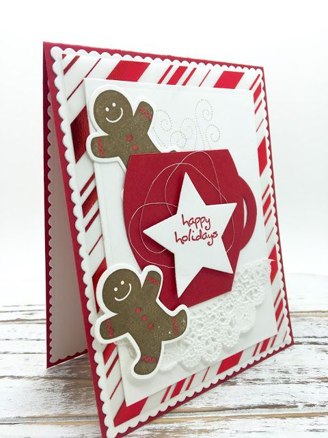 PinkBlingCrafter: A Gingerbread Christmas Card for Friday Mashup