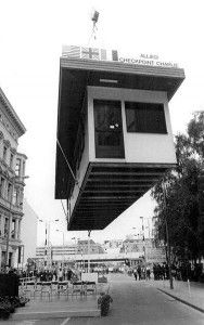 June 22, 1990: BERLIN GERMANY, Checkpoint Charlie is removed from is original location of Friedrichstrasse & Koch Strasse. The symbol of where East met West was removed to show that change has come to Europe and that Cold War was quickly coming to an end. Credit: Deutsches Bundesarchiv.