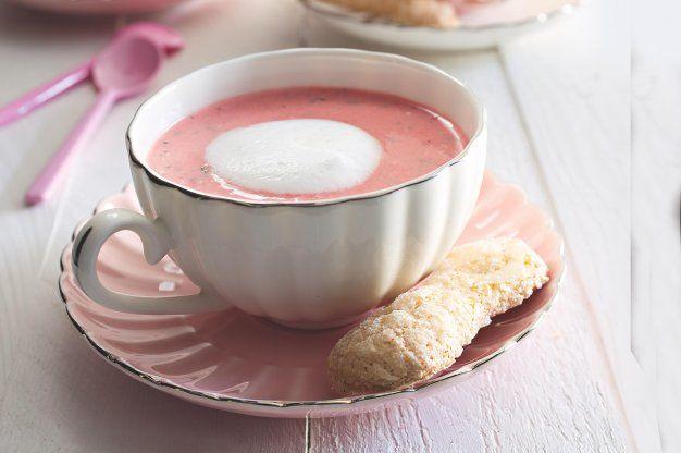 Jahodové cappuccino & domácí piškoty