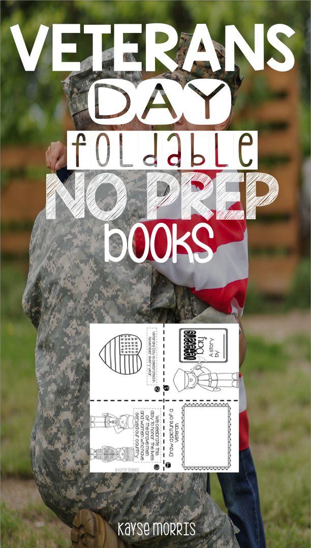 Veteran's Day Foldable Books Kayse Morris https://www.teacherspayteachers.com/Product/Veterans-Day-2185750