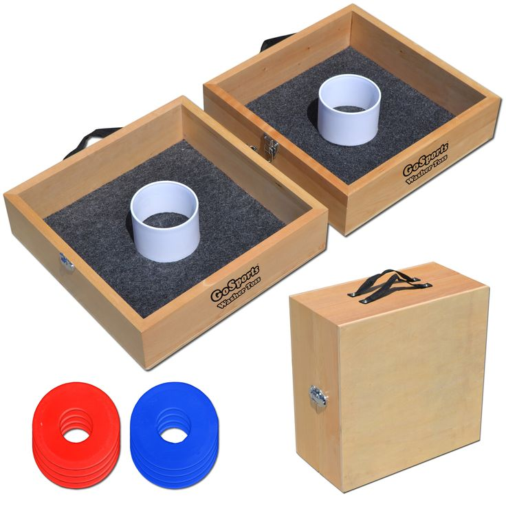 Premium Solid Wood Washer Toss Game