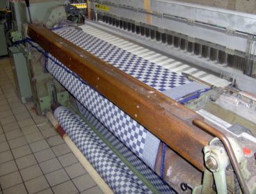 Pompdoek per meter voor tafelkleed via Bellebien (marine, de grijsblauwe ouderwetse kleur)