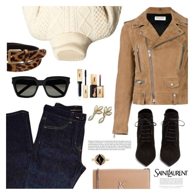 """""""Saint Laurent Top to Toe"""" by jan31 ❤ liked on Polyvore featuring Yves Saint Laurent and Kerr®"""