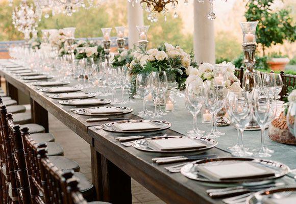 Decoración de Mesas Rectangulares para Bodas - Para Más Información Ingresa en: http://centrosdemesaparaboda.com/decoracion-de-mesas-rectangulares-para-bodas/