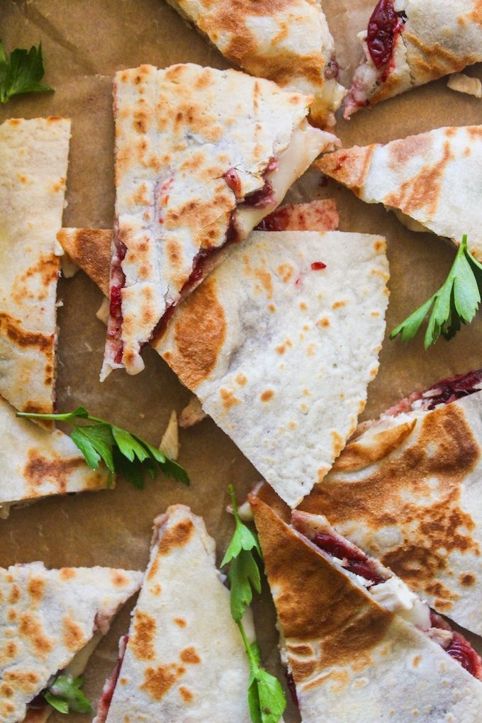 Turkey, cranberry, and brie quesadilla - all you need is 15 minutes and a handful of ingredients to make the most satisfying left over lunch.