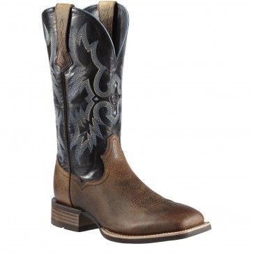 Ariat Men's Tombstone Black and Earth - Wide Square