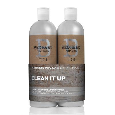 TIGI Bed Head For Men Clean Up Tween Shampoo & Conditioner Duo 2x750ml