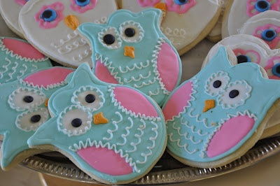 Owl cookies! fall colors for Chloes birthday?