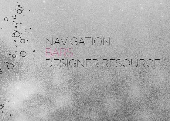 Designer Resource: 20+ Navigation Bars Collection