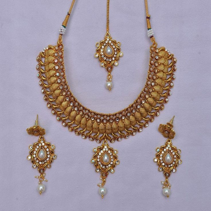 Indian Fashion Jewelry Bollywood Bridal Gold Plated Cz
