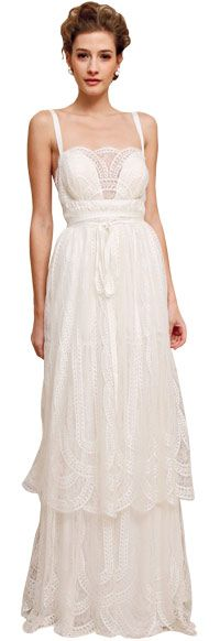 Douglas Hamnant bohemian tiered gown - not such a fan of the tiers, but like the bodice