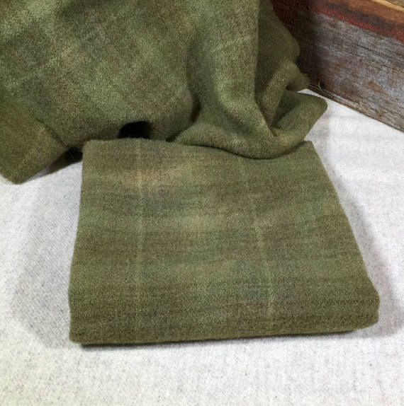 Sage Green  Hand-Dyed Wool Fabric for Rug Hooking Applique