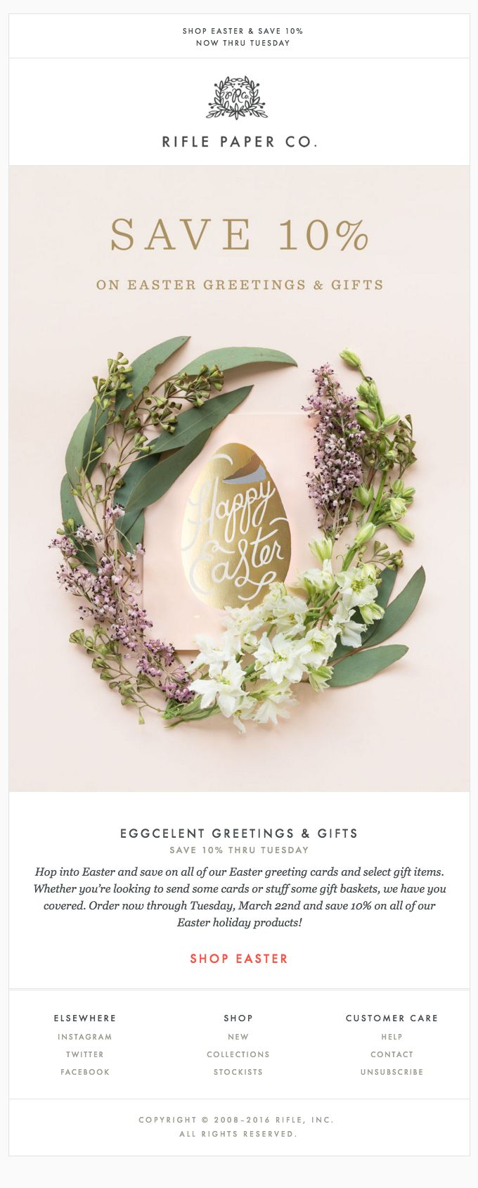 94 best easter emails images on pinterest email marketing eggcelent greetings gifts for easter really good emails negle Image collections