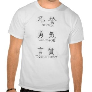 Navy Core Values (Kanji only on front of shirt) | Military ...