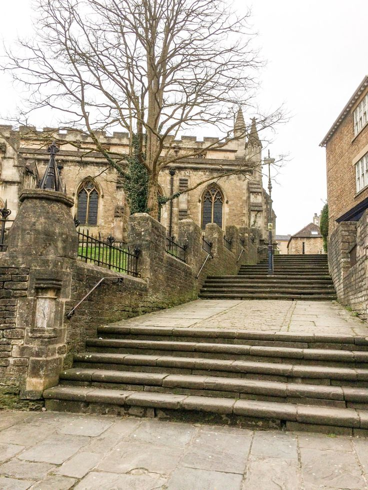 St John's Church and Church Steps, Frome, Somerset