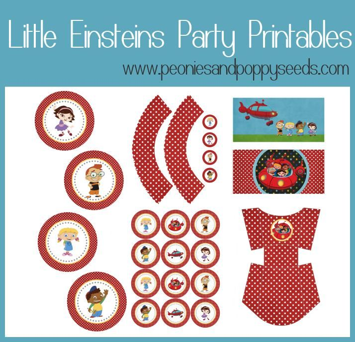 Little Einsteins Party Freebies | Peonies and Poppyseeds