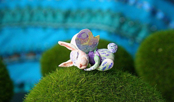 Bunny - Lavender - Spring Spirit - Bunny Miniature - Rabbit Miniature - Dollhouse Miniature - Collectible Miniature - Easter Bunny by BlackCatCreativeStd on Etsy https://www.etsy.com/listing/522190293/bunny-lavender-spring-spirit-bunny