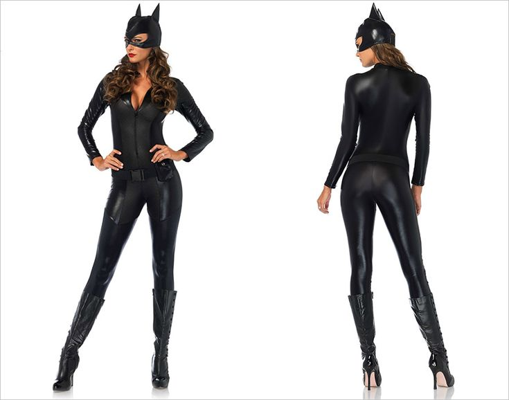 Leg Avenue Costume de catwoman Captivating Crime Fighter (S)