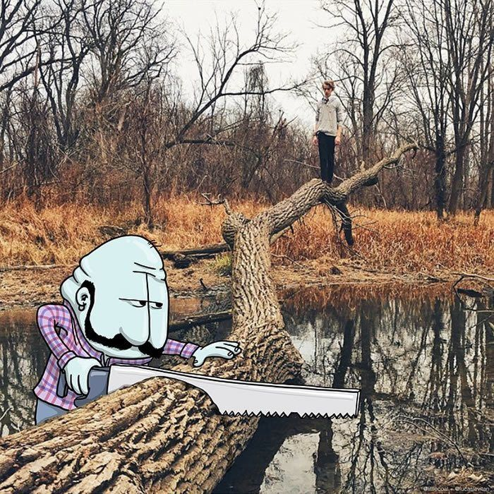 """The Trap  """"Photo Invasion"""" - The Awesome Illustrations Combined With Instagram Photos • Page 4 of 5 • BoredBug"""