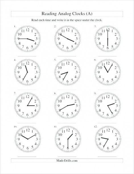Clock Practice Worksheets 2nd Grade Main Ideas Worksheets ...
