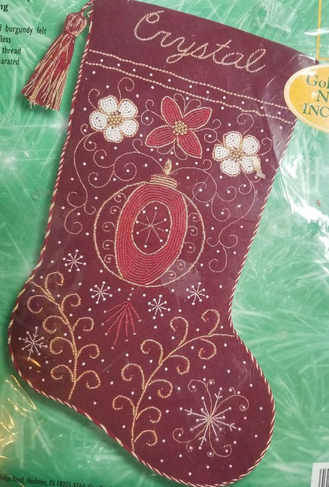 Bucilla Holiday Elegance Embroidery Stocking Kit #84306 in 2018