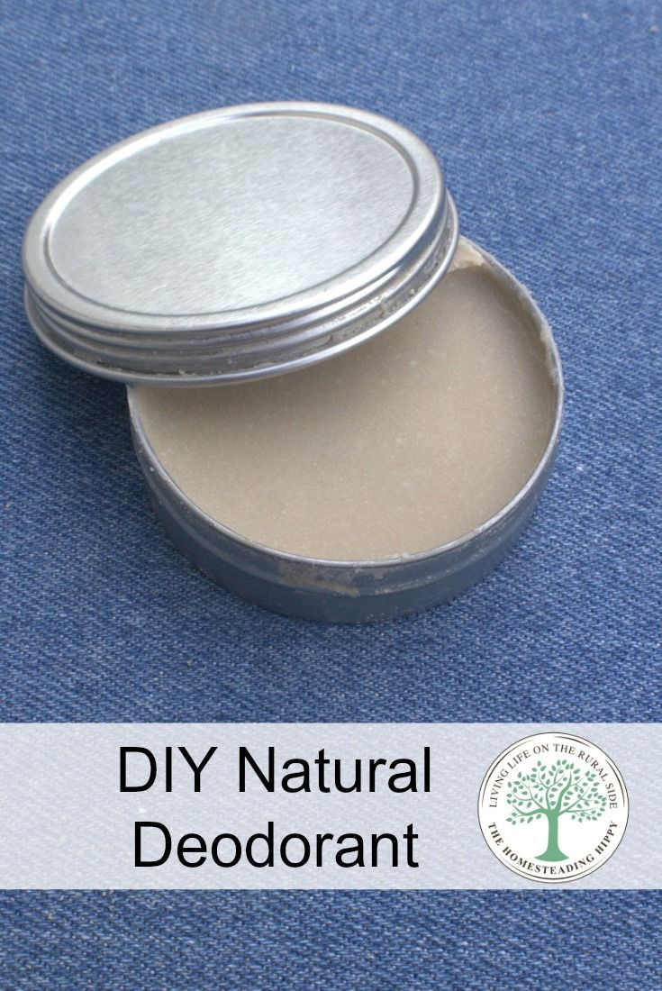 Don't sweat it! Make your own deodorant and stop the stinky funk naturally! Uses all natural ingredients you can be happy about putting on your body! via @homesteadhippy
