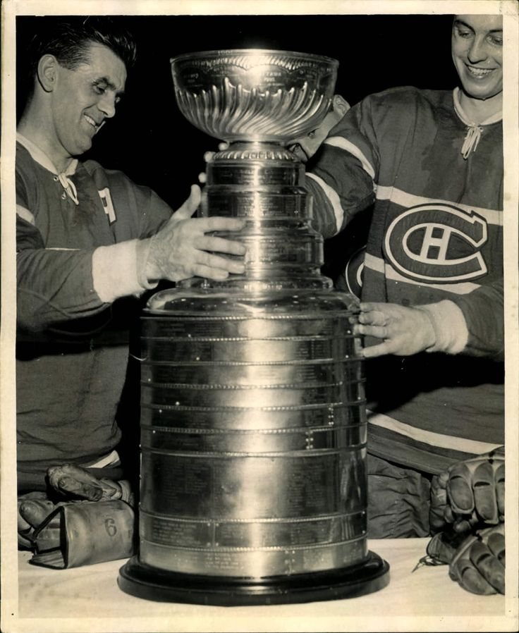 """1960 Maurice Richard Jean Beliveau Montreal Canadiens """"The Sporting News Collection Archives"""""""