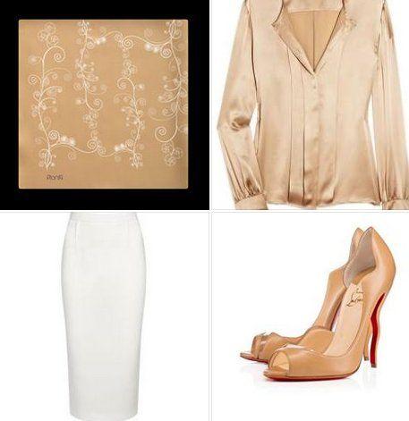Pensiamo ad un weekend sui toni dell'autunno per riscaldare la delicata tonalità avorio… Suggeriamo un look classico glamour anni 50'. Camicia in seta con maniche a sbuffo, gonna a tubo al ginocchio, accessori glam e…una sciarpa in seta particolare!! Il design: candide bianche conchiglie impreziosiscono lo sfondo color caramello #FW1617! #Konkoutfit #scarf #weekendstyle #bloggers