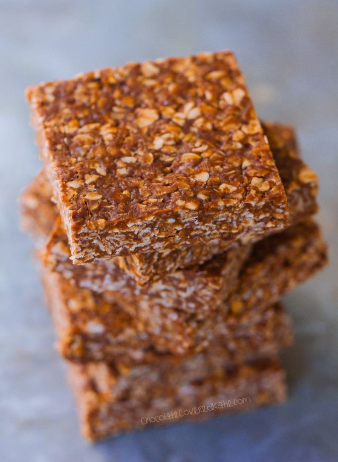 Clean Eating Chocolate Oatmeal (No Bake) Bars