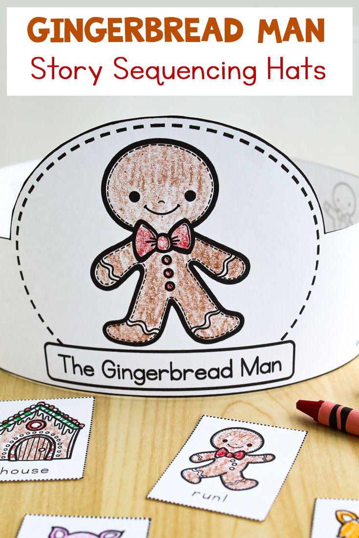 Gingerbread Man Sequencing Hats Winter Crafts For Kids Gingerbread Man Activities Gingerbread Man [ 1102 x 735 Pixel ]