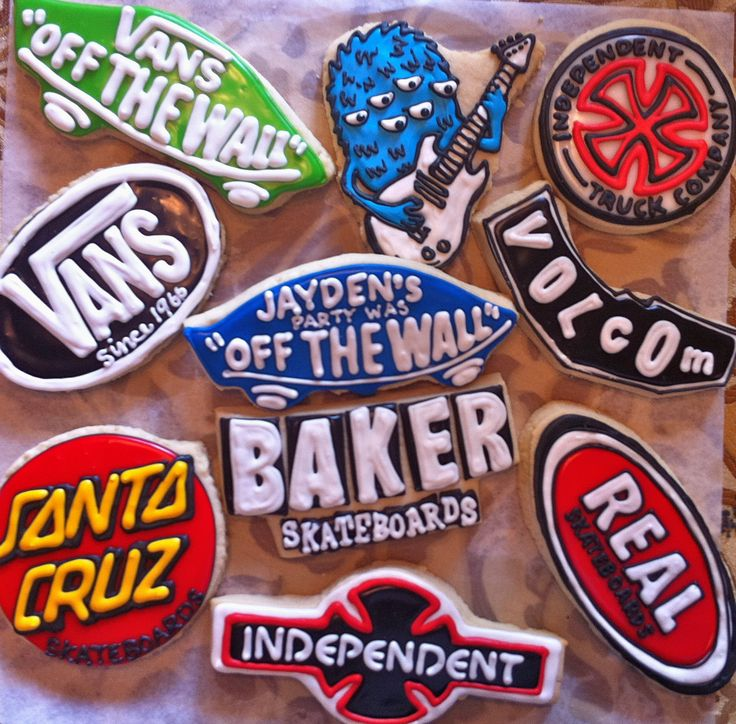 Skateboard party cookies!